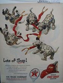 Texaco Dalmatian Lots of Snap Ad 1951