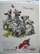 Texaco Dalmatian Plenty Lively Ad 1953