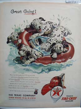 Texaco Dalmatian Great Going Ad 1953