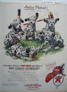 Texaco Dalmatian Action Packed Ad 1953