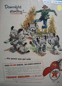 Texaco Dalmatian Downright Startling Ad 1955