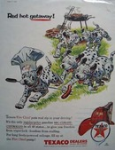 Texaco Dalmatian Red Hot Getaway Ad 1956