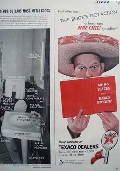 Texaco Books Got Action Ad 1942