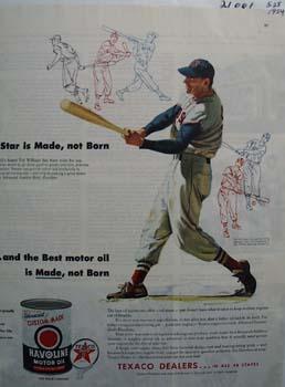 Havoline Oil Ted Williams Ad 1954