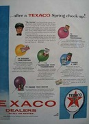 Texaco Cars Just Float Ad 1957