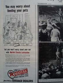 Texaco Worry About Feeding Pets Ad 1943