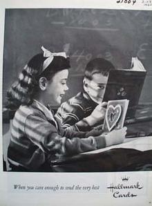 Hallmark Boy Girl Valentine Ad 1960