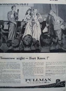 Pullman Tomorrow Night Fort Knox Ad 1943