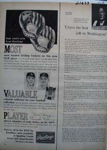 Rawlings Look Whats New Ad 1965