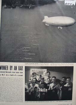 Harvard and M.I.T. Collegiate Rowing Article 1950