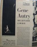 Gene Autry Millionaire Cowboy Article 1950