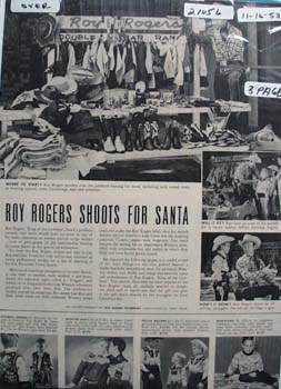 Roy Rogers Shoots For Santa Ad 1953