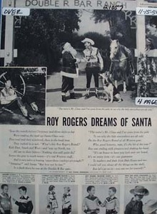 Roy Rogers Dreams of Santa Ad 1954