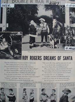 Roy Rogers Dreams of Santa Ad 1954