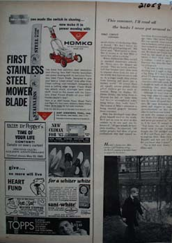 AMF Homko Power Mower Blade Ad 1965