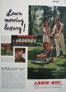 Lawn Boy Lawn Mowing Luxury Ad 1957