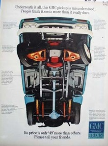 GMC Pickup Underneath It All Ad 1965