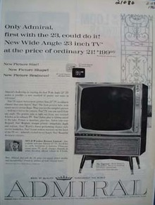 Admiral TV First With 23 Ad 1960