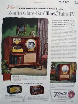 Zenith Glare Ban Ad 1949