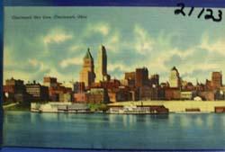 Cincinnati Sky Line Postcard