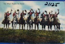 West Begins In Texas Postcard.