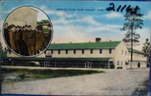 Service Club Camp Shelby Miss. Postcard.
