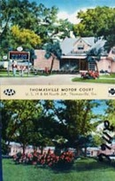 Thomasville Motor Court Georgia Postcard
