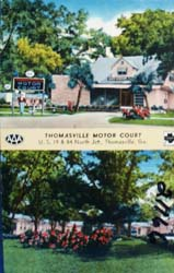 Thomasville Motor Court Georgia Postcard