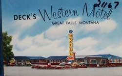 Decks Western Motel Montana Postcard.