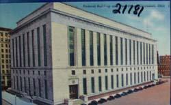 Fed. Building and Postoffice Cincinnati  Postcard