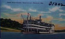 Coney Island Steamer Island Queen Ohio Post Card