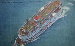 Aerial View Coney Island Steamer Island Queen Ohio Post Card