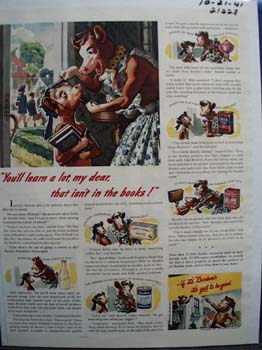 Borden's You'll Learn A lot Ad 1941