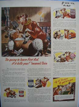 Bordens Going to Learn First Aid Ad 1942