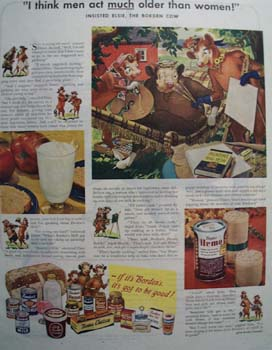 Bordens Men Act Older Ad 1947