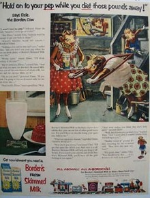 Bordens Hold On To Your Pep Ad 1954