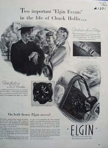 Elgin & Chuck Hollis Ad 1942