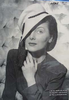 Joan Crawford in Dache Hat Picture 1942
