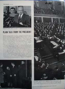 President Eisenhower Picture & Article 1958