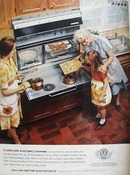 Edison Electric Women Cooking Ad 1965