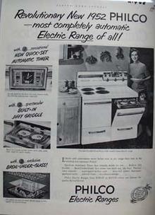 Philco Electric Range Woman With Spatula Ad 1952