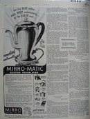 Mirro-Matic Percolator For Best Coffee Ad 1952