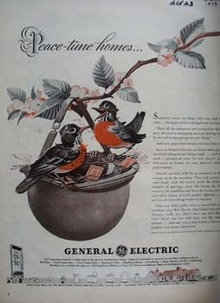 General Electric Robins In Helmet Ad 1943