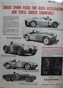 Champion Spark Plugs Quick Acceleration Ad 1954