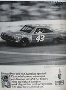 Champion Spark Plug Richard Petty Ad 1967
