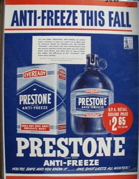 Prestone Anti-Freeze This Fall Ad 1942