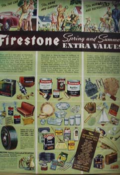 Firestone Auto Supplies Spring And Summer Ad 1943