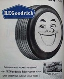 B F Goodrich Smiling Tire Ad 1958