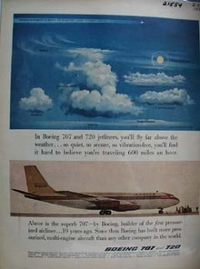Boeing Flies Above The Weather Ad 1958