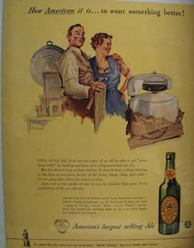 Ballantine Ale A Couple And A Washing Machine Ad 1943
